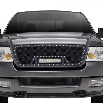 Paramount® - 1-Pc Restyling™ LED Evolution Textured Black Wire Mesh Grille
