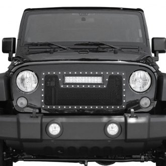 Paramount® - 1-Pc LED Evolution Black Wire Mesh Main Grille