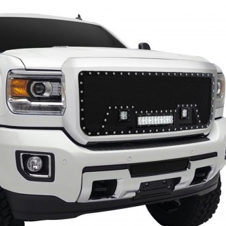 Paramount® - 1-Pc Restyling™ LED Evolution Black Wire Mesh Main Grille