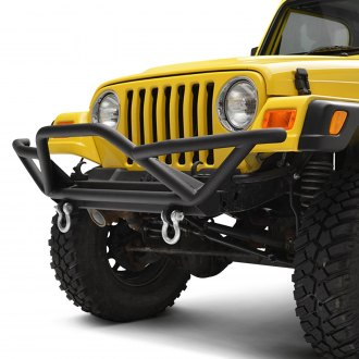 Paramount® - Off-Road™ Rock Crawler Full Width Black Front Tubular Bumper with Guard