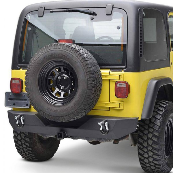 Paramount Automotive® - Off-Road™ Rock Crawler Full Width Rear HD Black Bumper