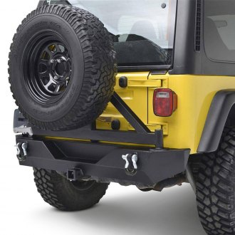 Paramount® - Off-Road™ Rock Crawler Full Width Black Rear HD Bumper with Tire Carrier