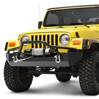 Paramount® - Off-Road™ Rock Crawler Full Width Black Front Winch HD Bumper with Light Guard