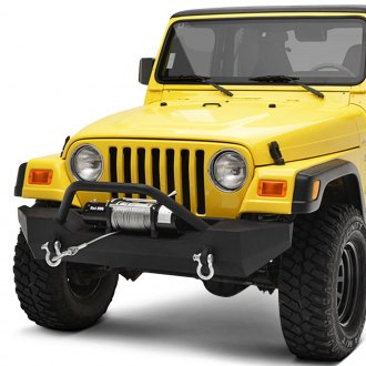 Paramount® - Off-Road™ Rock Crawler Full Width Black Front Winch HD Bumper with Hoop
