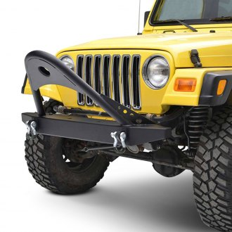 Paramount® - Off-Road™ Classic Stubby Black Front Winch HD Bumper with Stinger