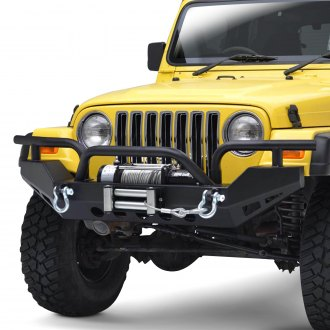 Paramount® - Off-Road™ Xtreme Full Width Black Front Winch HD Bumper with Brush Guard