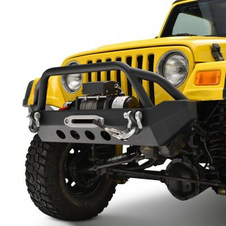 Paramount® - Off-Road™ R2 Mid Width Black Front Winch HD Bumper with Brush Guard