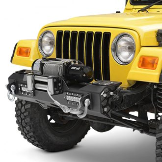 Paramount® - Off-Road™ MOD Stubby Black Front Winch Modular Bumper