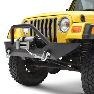 Paramount® - Off-Road™ Sport Mid Width Black Front Winch HD Bumper with Hoop