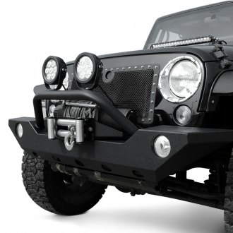 Paramount® - Full Width Black Front Winch HD Bumper with Hoop