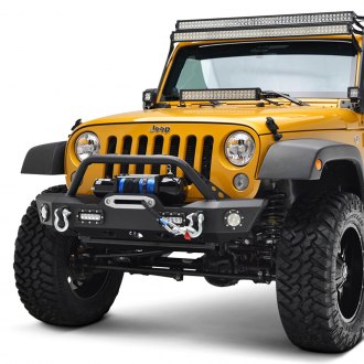 Paramount® - Off-Road™ Mid Width Black Front Winch HD Bumper with Hoop