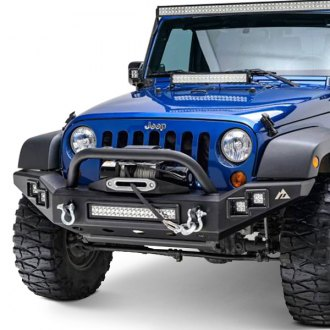 Paramount® - Off-Road™ Full Width Black Front Winch HD Bumper with Hoop