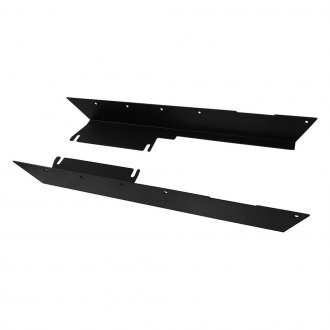 Paramount® - Heavy Duty Black Side Rocker Guards