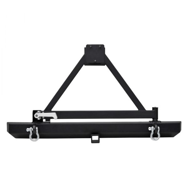 Paramount Automotive® - Off Road™ Classic Black Bumper with Tire Carrier