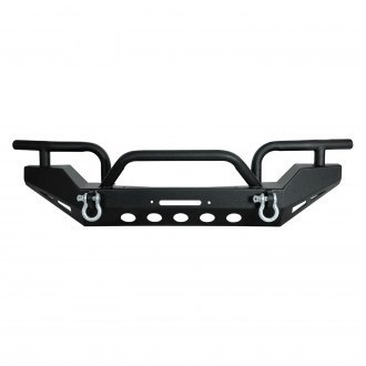 Paramount® - Off Road™ Xtreme Full Width Front HD Winch Black Steel Bumper