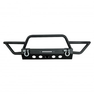 Paramount® - Off Road™ Hybrid Full Width Front Tubular Winch Black Steel Bumper