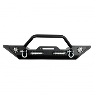 Paramount® - Off Road™ Rock Crawler Full Width Black Front Winch HD Bumper
