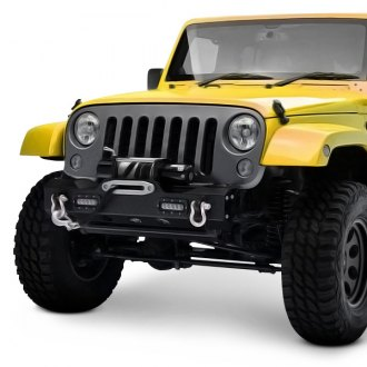Paramount® - Off Road™ MOD Stubby Black Front Winch Modular Bumper