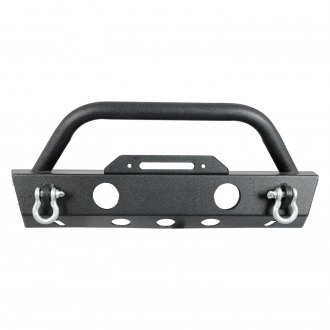 Paramount® - Off-Road™ Stubby Black Front Winch HD Bumper