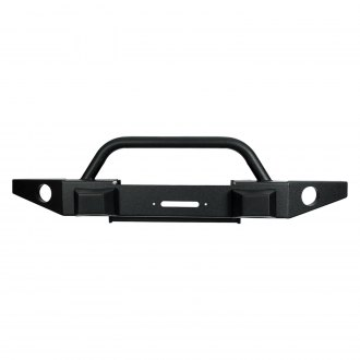 Paramount® - Off-Road™ Premium Full Width Black Front Winch HD Bumper
