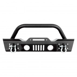 Paramount® - Off Road™ S3 Stubby Front HD Winch Black Steel Bumper