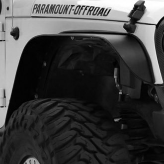 Paramount® - Rock Crawler Armor Satin Black Front and Rear Fender Flares