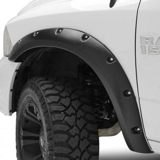 Paramount® - Rivet Style Satin Black Front and Rear Fender Flares