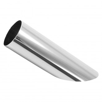 Patriot Exhaust® - Steel Round Weld-On Chrome Exhaust Tip