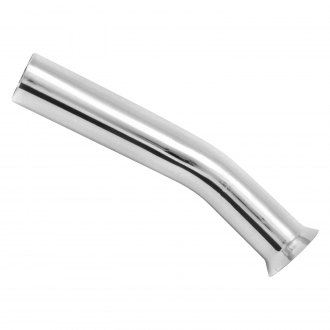 Patriot Exhaust® - Steel Curve Down Flare Turndown Weld-On Chrome Exhaust Tip