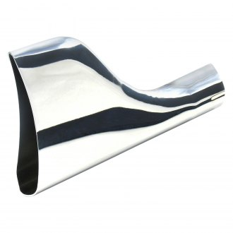 "Patriot Exhaust® - Steel Fishtail Style Oval Weld-On Chrome Exhaust Tip (1.875"" Inlet, 8"" Length)"