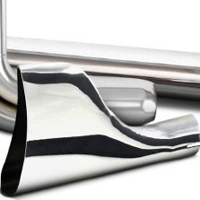 Patriot Exhaust® - Exhaust Tip Fishtail Chrome