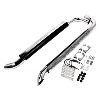 Patriot Exhaust® - Mild Steel Chrome Shielded Side Exhaust System with Split Side Exit