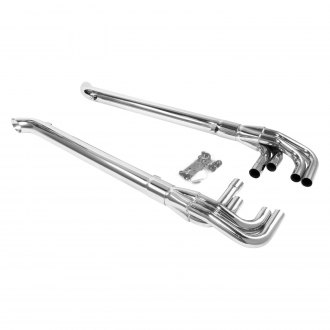Patriot Exhaust® - Chrome Plated Lake Pipes with Split Side Exit