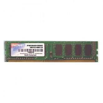 Patriot Memory® - Signature 4GB DDR3 1333 MHz 240-pin Non-ECC Unbuffered Memory Module