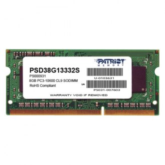 Patriot Memory® - Signature 8GB DDR3 1333 MHz 204-pin Non-ECC Unbuffered Memory Module