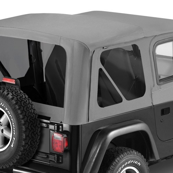 Pavement Ends® - Charcoal Replay™ Fabric-only Soft Top With Clear Side and Rear Windows
