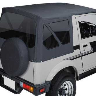 Pavement Ends® - Black Replay™ Fabric-only Replacement Soft Top with Clear Side and Rear Windows