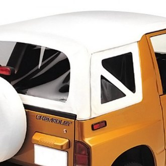 Pavement Ends® - White Denim Replay™ Fabric-only Replacement Soft Top with Clear Side and Rear Windows