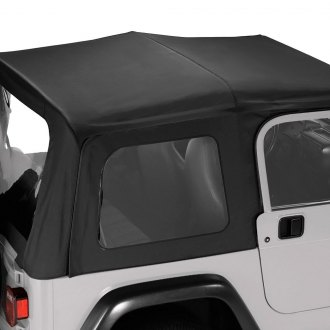 Pavement Ends® - Black Denim Replay™ Fabric-only Soft Top with Clear Side and Rear Windows