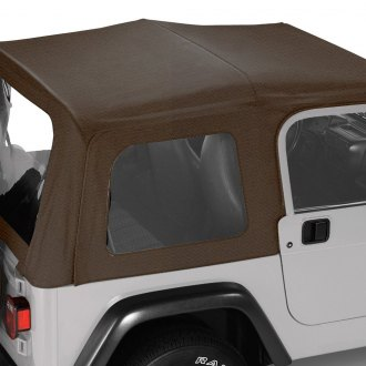 Pavement Ends® - Dark Tan Replay™ Fabric-only Soft Top with Clear Side and Rear Windows
