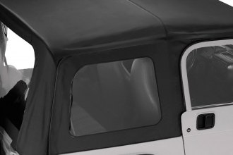 Pavement Ends® - Black Diamond Replay™ Fabric-only Soft Top W/O Upper Door Skins, With Clear Side and Rear Windows