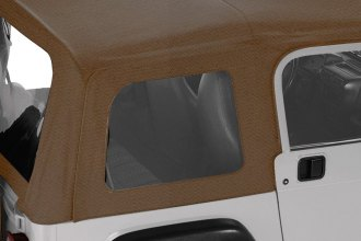 Pavement Ends® - Spice Replay™ Fabric-only Soft Top W/O Upper Door Skins, With Clear Side and Rear Windows