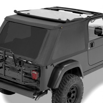 Pavement Ends® - Black Denim Sprint Top Frameless Soft Top with Tinted Side and Rear Windows