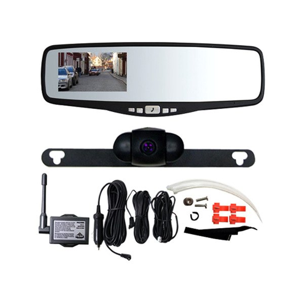 "Peak® - 3.5"" Rearview Mirror Wireless Back-Up Camera"
