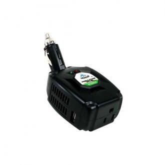 Peak® - Mobile DC-AC 100W Swivel-Neck Power Inverter with 2.1A USB and Lighter Plug