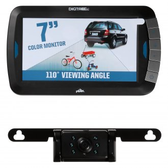 "Peak® - Wireless Rear View System with Built-in 7"" Monitor and Top License Plate Camera"