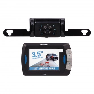 "Peak® - Wireless Rear View System with Built-in 3.5"" Monitor and Top License Plate Camera"