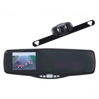 "Peak® - Wireless Rear View Mirror with Built-in 3.5"" LCD Screen and Top License Plate Mount Camera"