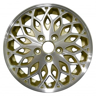 "Perfection Wheel® - 16"" Refinished Snowflake Design Sparkle Gold Machined Factory Alloy Wheel"