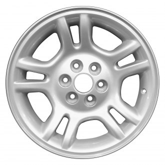 "Perfection Wheel® - 16"" Refinished 10 Slot Sparkle Silver Full Face Factory Alloy Wheel"